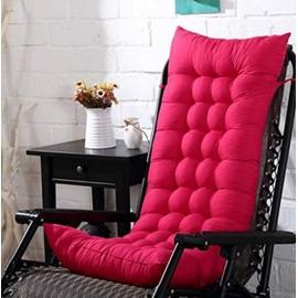 coussin de chaise longue galette de chaise coussin bain de soleil matelas pour chaise fauteuil transat de jardin 48 125 8cm fushia