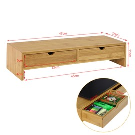 support de moniteur frg198 n ecran ergonomique support pour ecran d ordinateur universal ordinateur portable ou ecran tv rehausseur d ecran en bambou