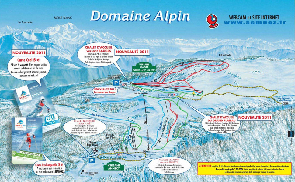 Guide de Station de Ski de AnnecyLeSemnoz Carte