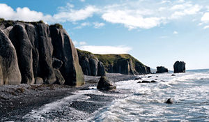 Russia coast landscape