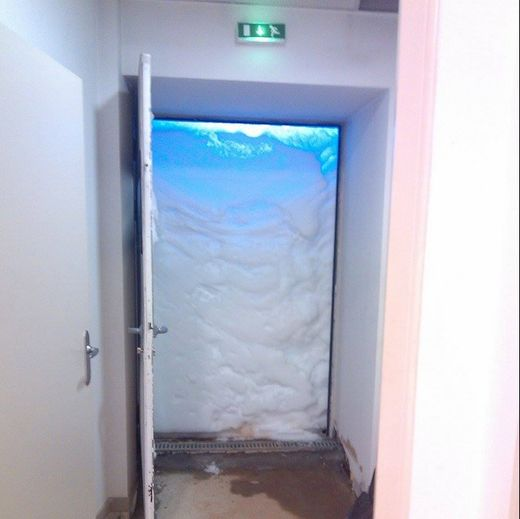 snow, door