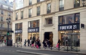 Boutique Forever 21 rue Rivoli Paris