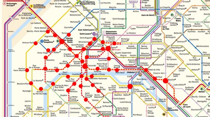 Stations métro fermées Gilets Jaunes Paris