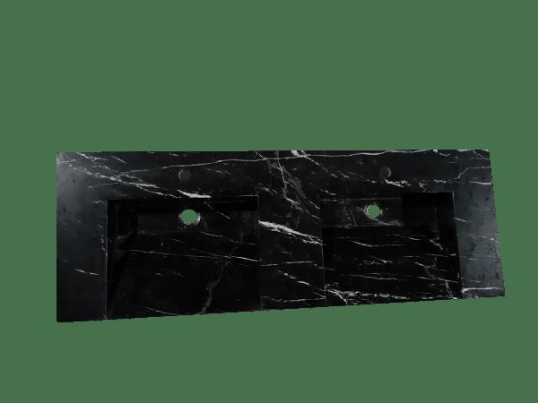 Encimera de mármol modelo EN140 en color negro marquina 2