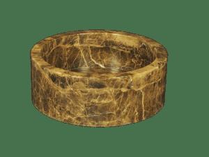 lavabo de mármol modelo am07 en color emperador claro