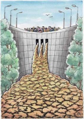Cartoon: no water (medium) by penapai