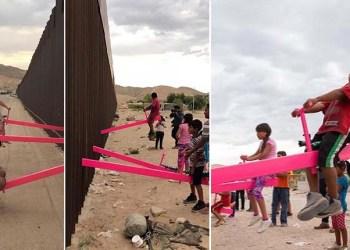 Des balançoires à la frontière américano-mexicaine pour permettre aux enfants de jouer ensemble (Vidéo)