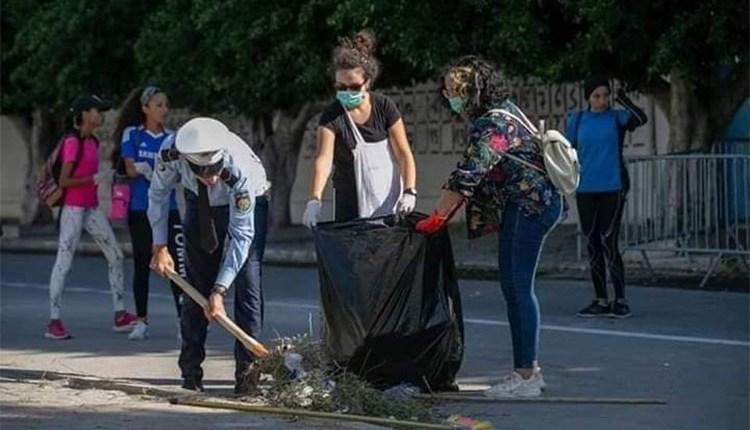 Tunisie : Campagne de propreté... La société civile montre l'exemple (Crédit Photo : Yassine Gaidi)