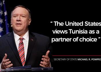 «La Tunisie est un exemple de démocratie et un partenaire de choix,» selon Mike Pompeo