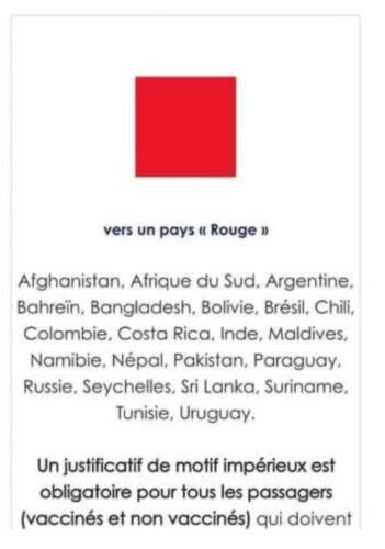 """La Tunisie sur la liste """"Rouge"""" avant d'être retirée sur le site du Groupe ADP"""