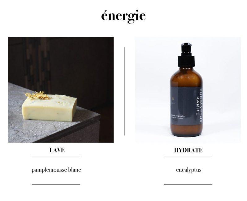 Savon et crème à mains pour donner de l'énergie par Tonic Mtl et Deux Cosmétiques.