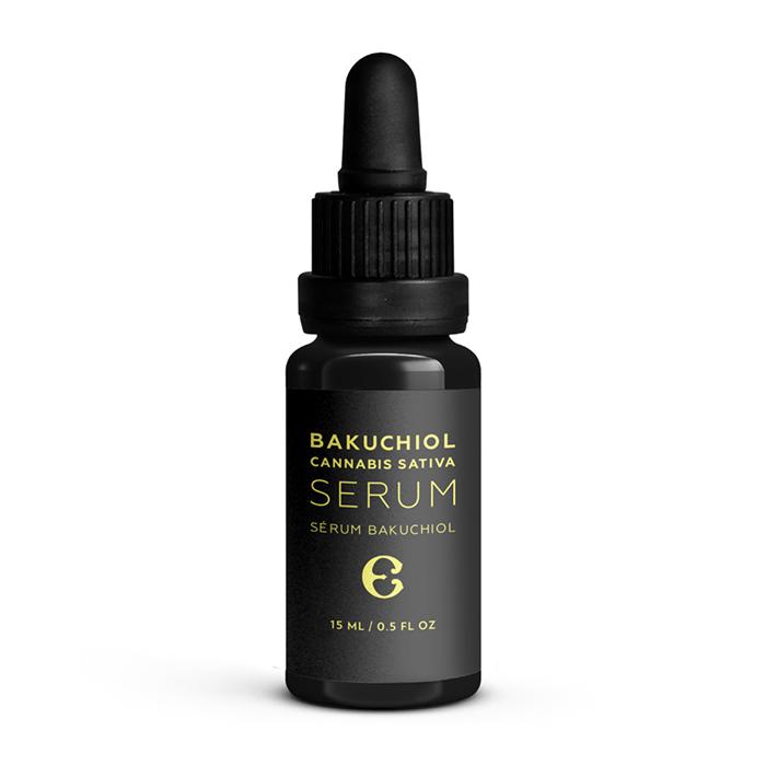 Sérum au bakuchiol et cannabis sativa de Étymologie