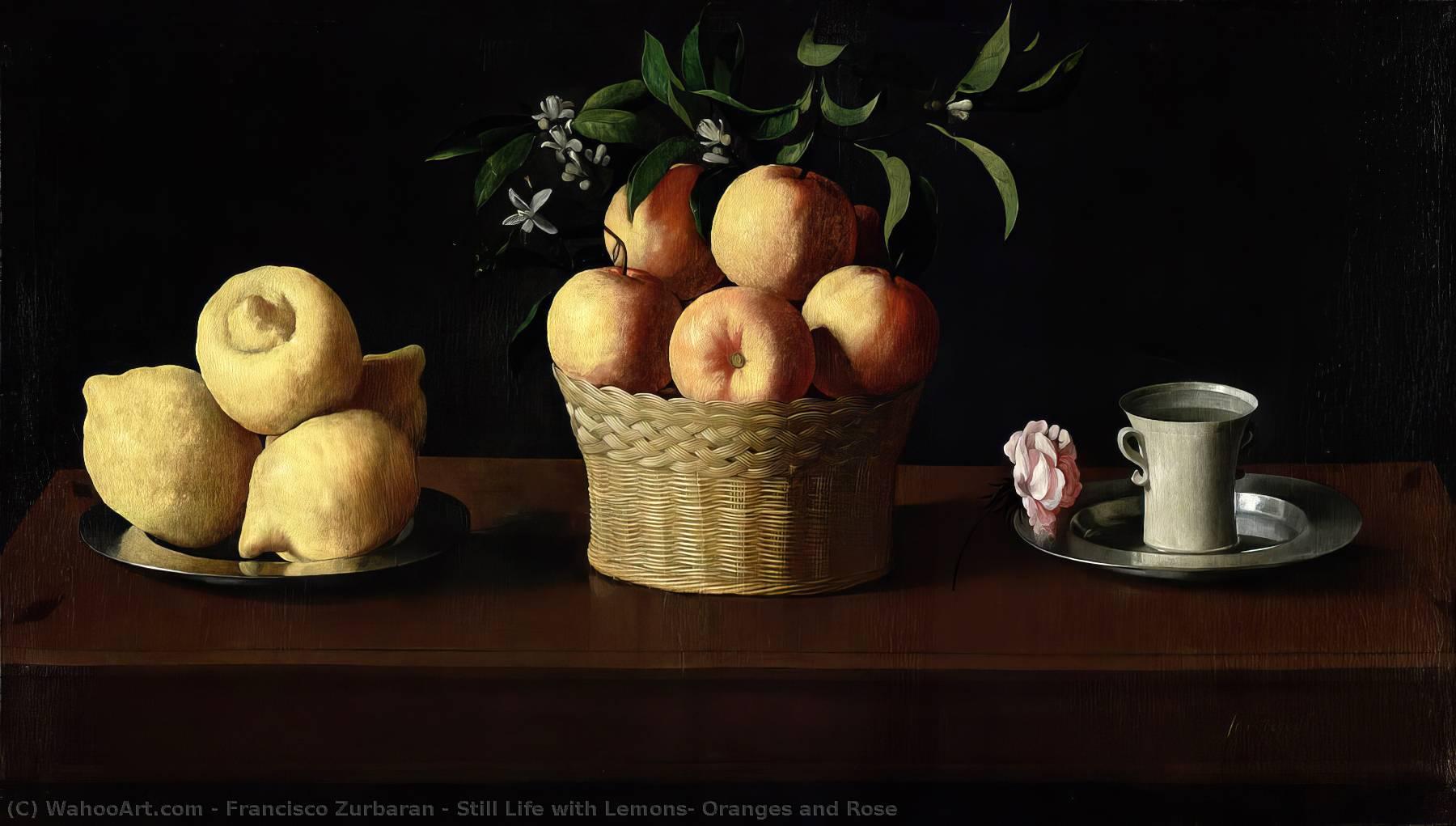 Rose Lemons Life And Still Zurbaran Oranges