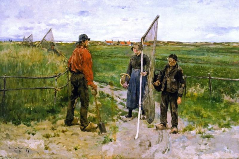 En Flandre occidentale (également connu sous en West-Flandre), 1883 de Theo Van Rysselberghe (1862-1926, Belgium) | Reproductions D'œuvres D'art Theo Van Rysselberghe | WahooArt.com
