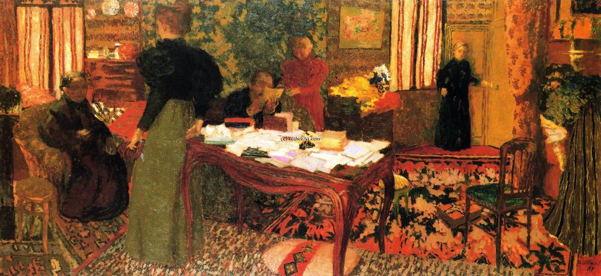 Large Interior Avec Six Figures 1897 De Jean Edouard