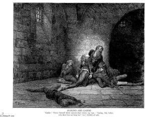 Ugolin et Gaddo de Paul Gustave Doré (1832-1883, France) |