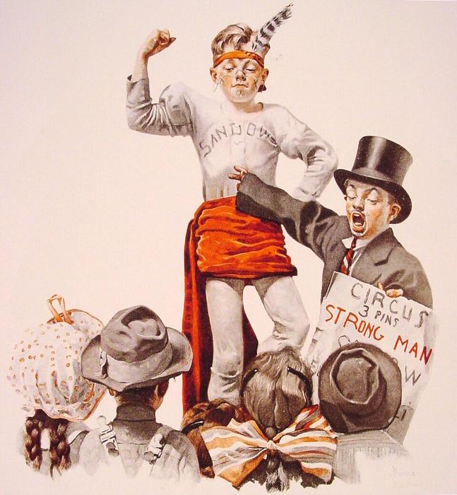 Le Cirque Barker 1916 De Norman Rockwell 1894 1978