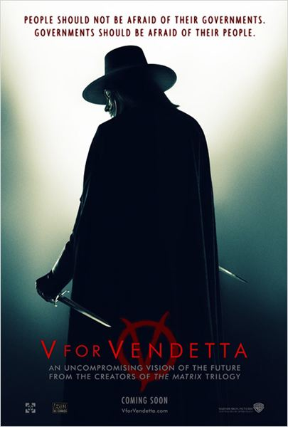 V pour Vendetta : Affiche Hugo Weaving, James McTeigue
