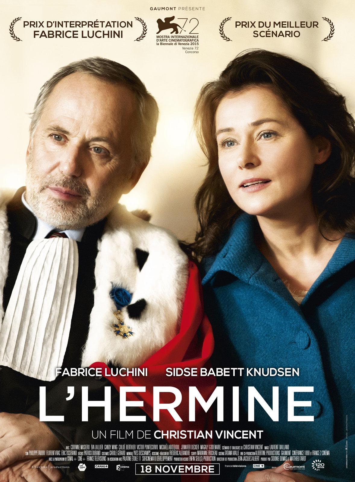 """Résultat de recherche d'images pour """"L'hermine  de Christian Vincent"""""""