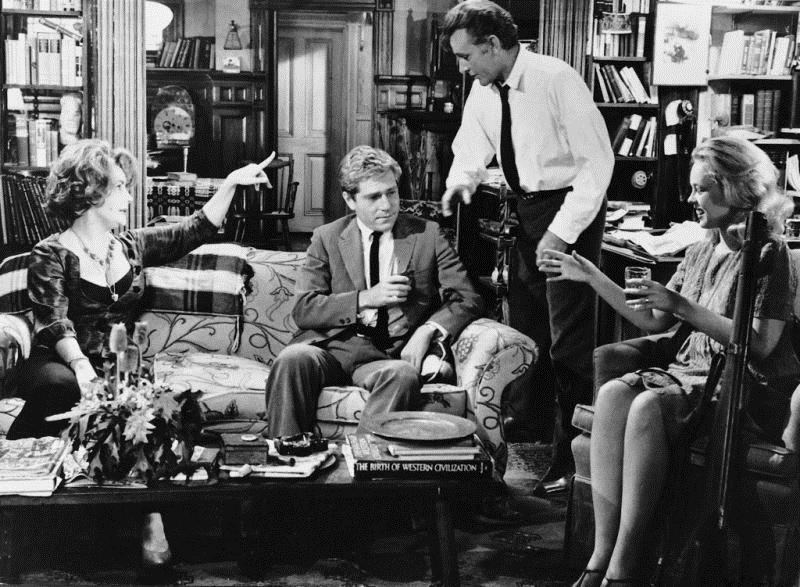 Qui a peur de Virginia Woolf ? : Photo Elizabeth Taylor, George Segal, Richard Burton, Sandy Dennis