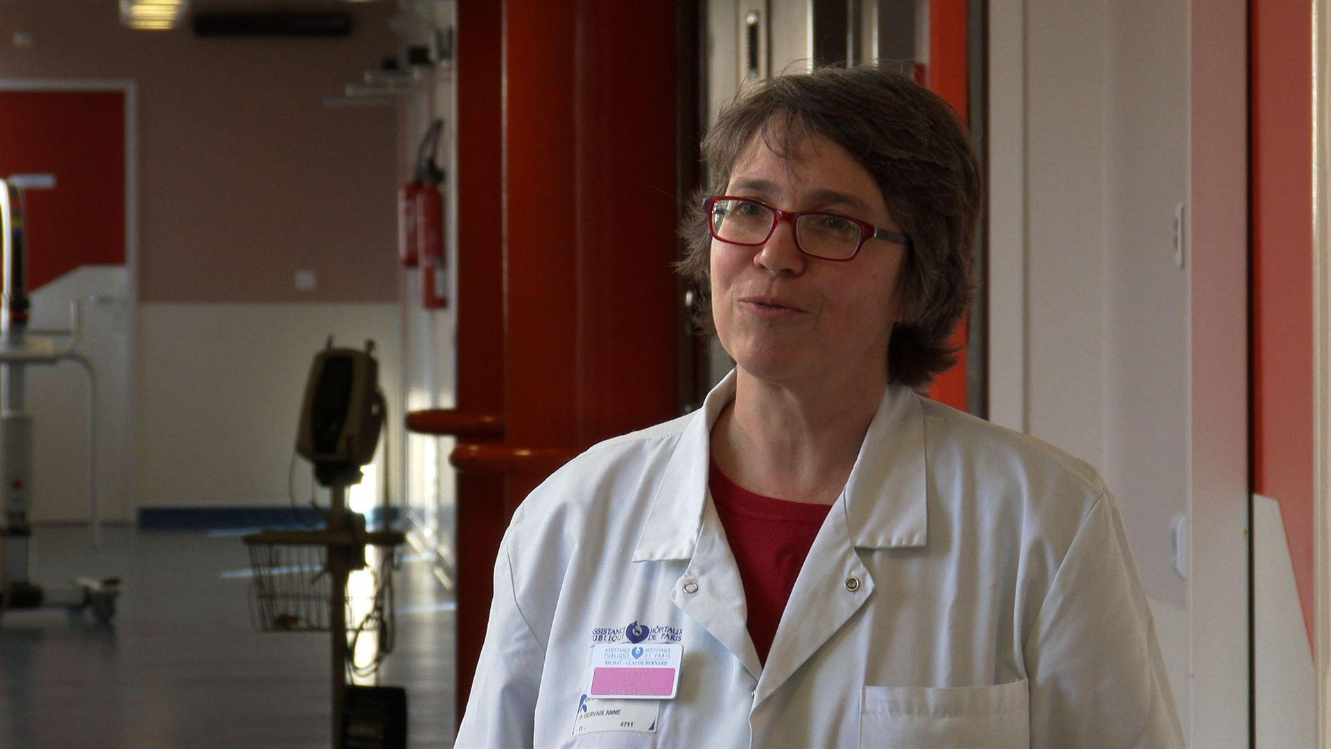Anne Gervais, animatrice du Mouvement de Défense de l'Hôpital Public