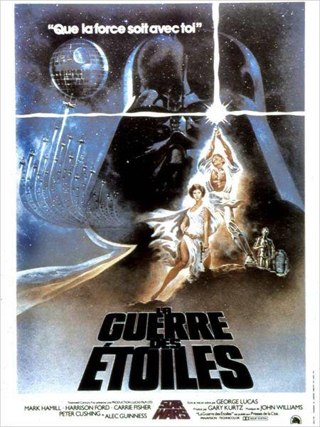 Star Wars : Episode IV - Un nouvel espoir (La Guerre des étoiles) : Affiche Anthony Daniels, Carrie Fisher, David Prowse, George Lucas, Kenny Baker