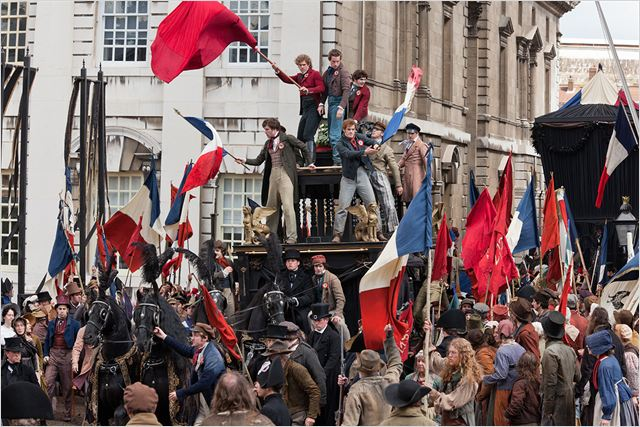 Les Misérables : Photo Aaron Tveit, Eddie Redmayne