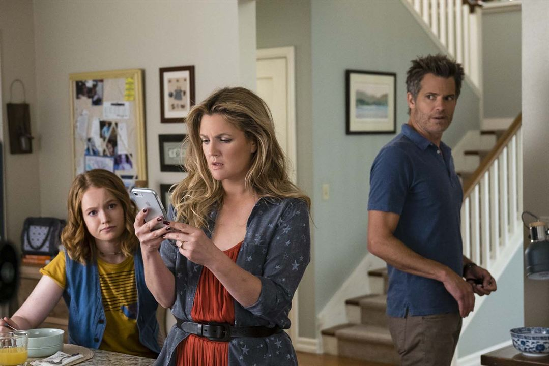 Photo Drew Barrymore, Liv Hewson, Timothy Olyphant