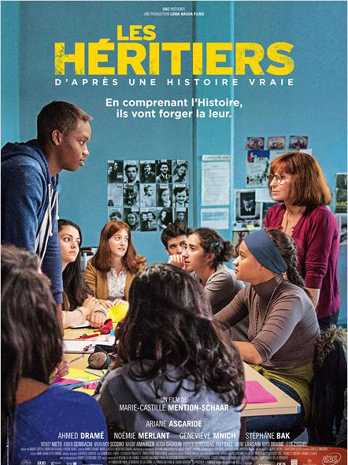 Les Héritiers, 7 octobre 2014, de Marie-Castille Mention-Schaar, avec Ariane Ascaride, Ahmed Dramé