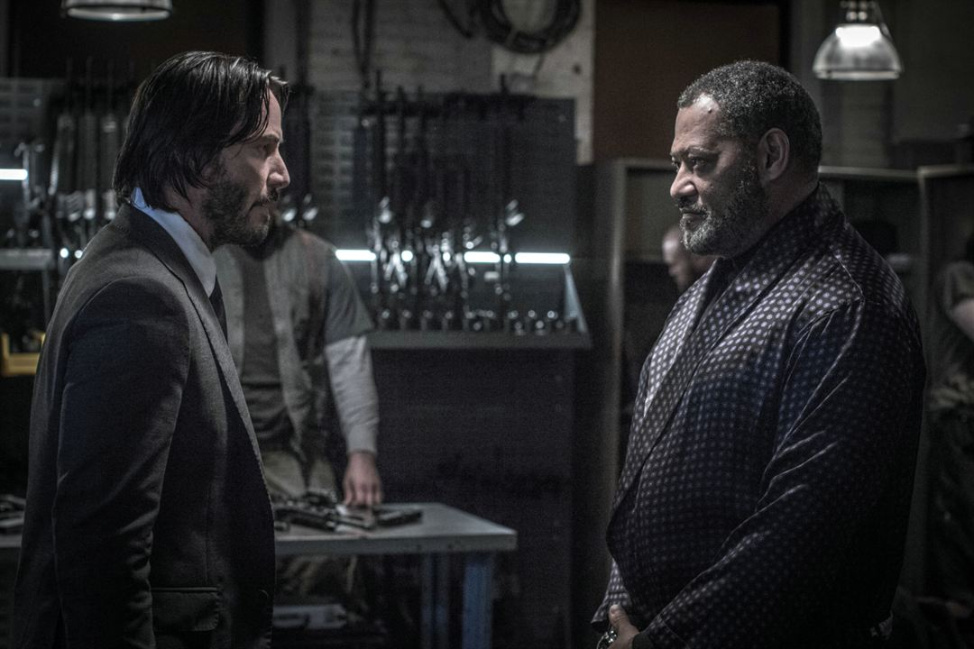 John Wick 2 : Photo Keanu Reeves, Laurence Fishburne