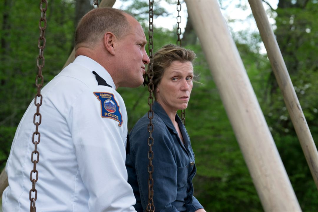 3 Billboards, Les Panneaux de la vengeance : Photo Frances McDormand, Woody Harrelson