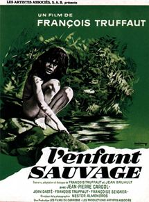 François Truffaut. L'enfant Sauvage, affiche du film, 1970.