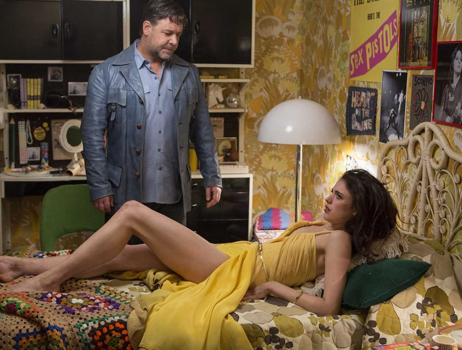 The Nice Guys : Photo Margaret Qualley, Russell Crowe