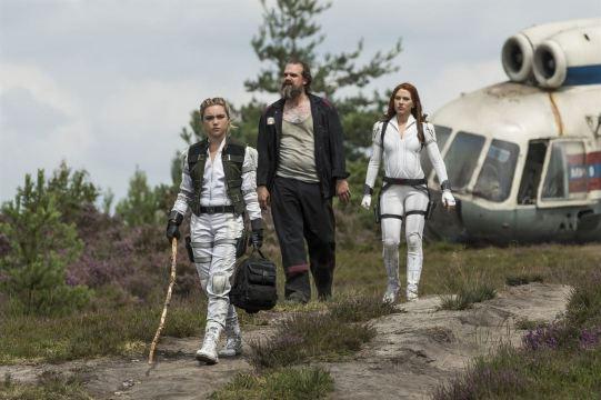 Black Widow: David Harbour, Scarlett Johansson, Florence Pugh