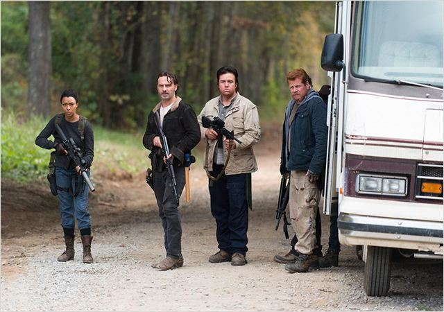 Photo Andrew Lincoln, Josh McDermitt, Michael Cudlitz, Sonequa Martin-Green
