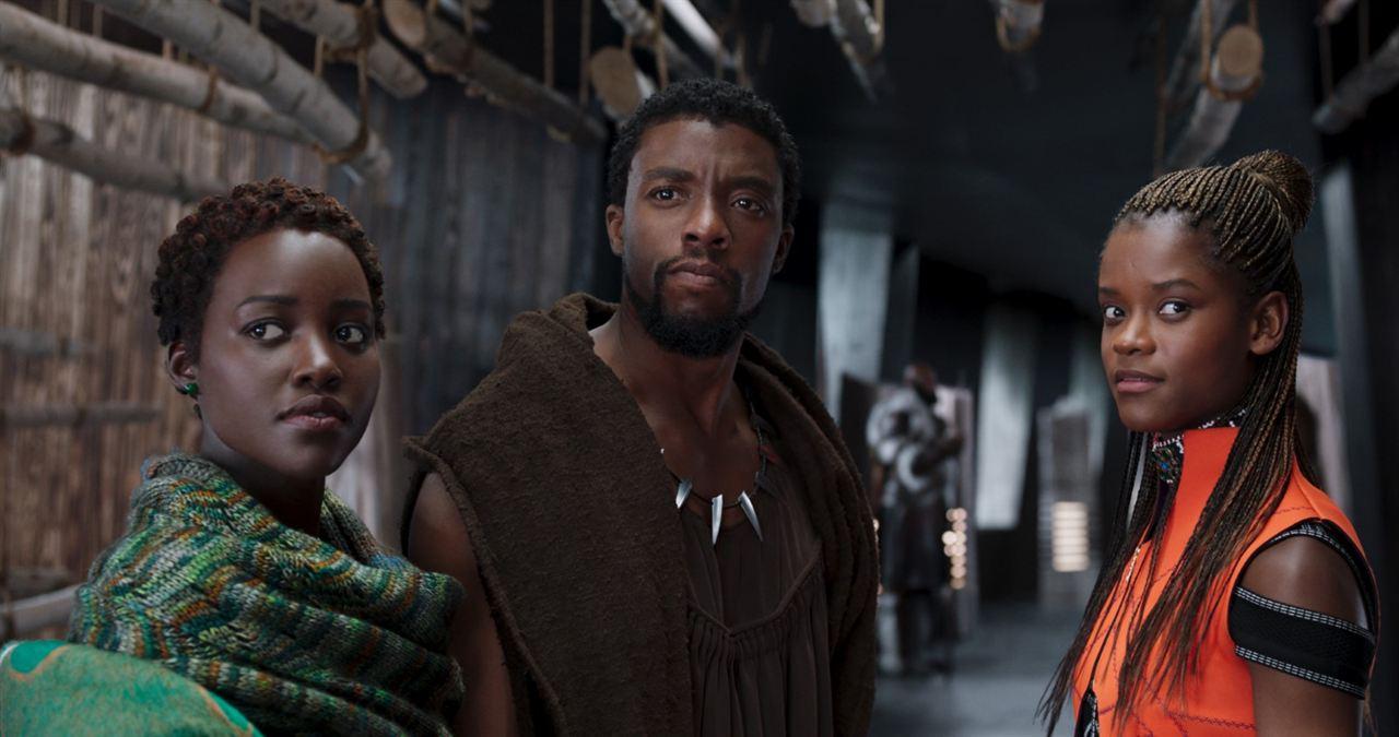 Black Panther : Photo Chadwick Boseman, Letitia Wright, Lupita Nyong'o