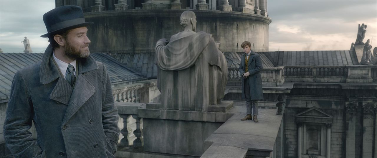 Les Animaux fantastiques : Les crimes de Grindelwald : Photo Eddie Redmayne, Jude Law