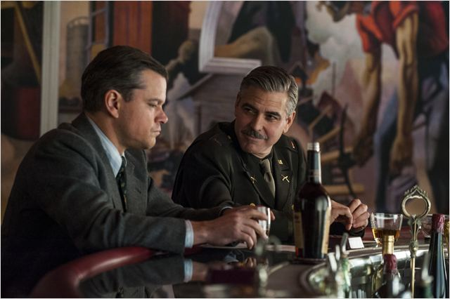 Monuments Men : Photo George Clooney, Matt Damon