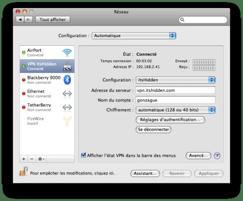 ItsHidden sous Mac OS
