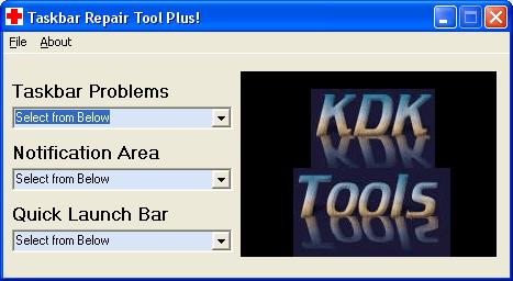 Taskbar Repair Tool Plus! - Windows