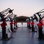 Les huit télescopes du système MEarth-South telescope array