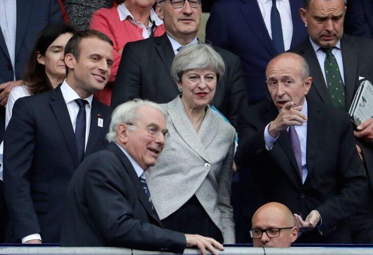 Emmanuel Macron et Theresa May
