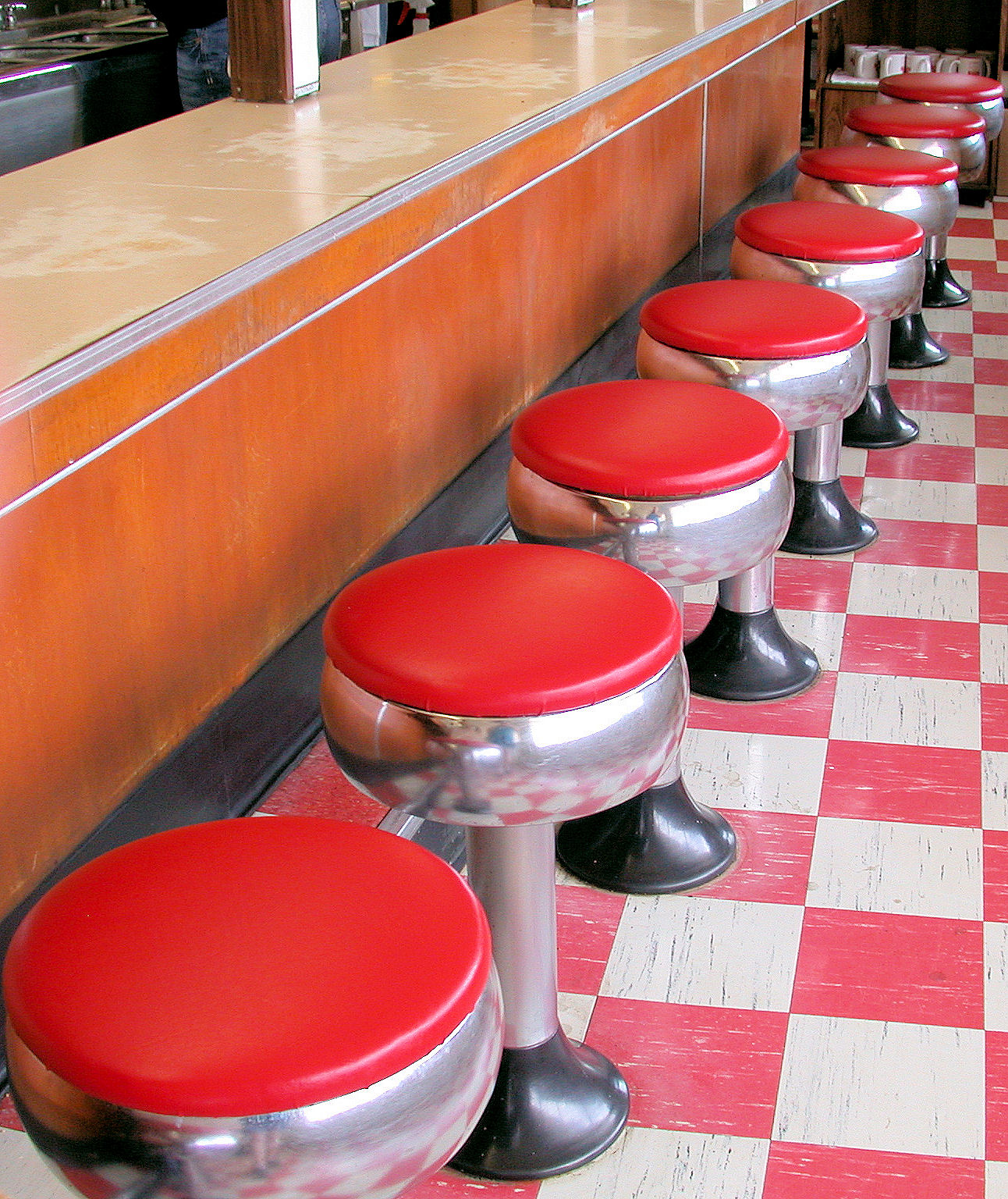 Counter Seating at Vintage 1950s Soda Fountain  Heggys