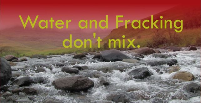 Water and Fracking don't mix
