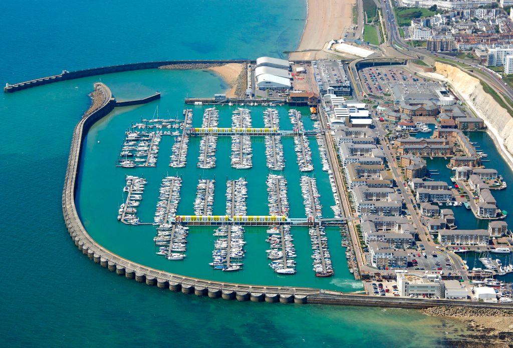 Brighton Marina from above