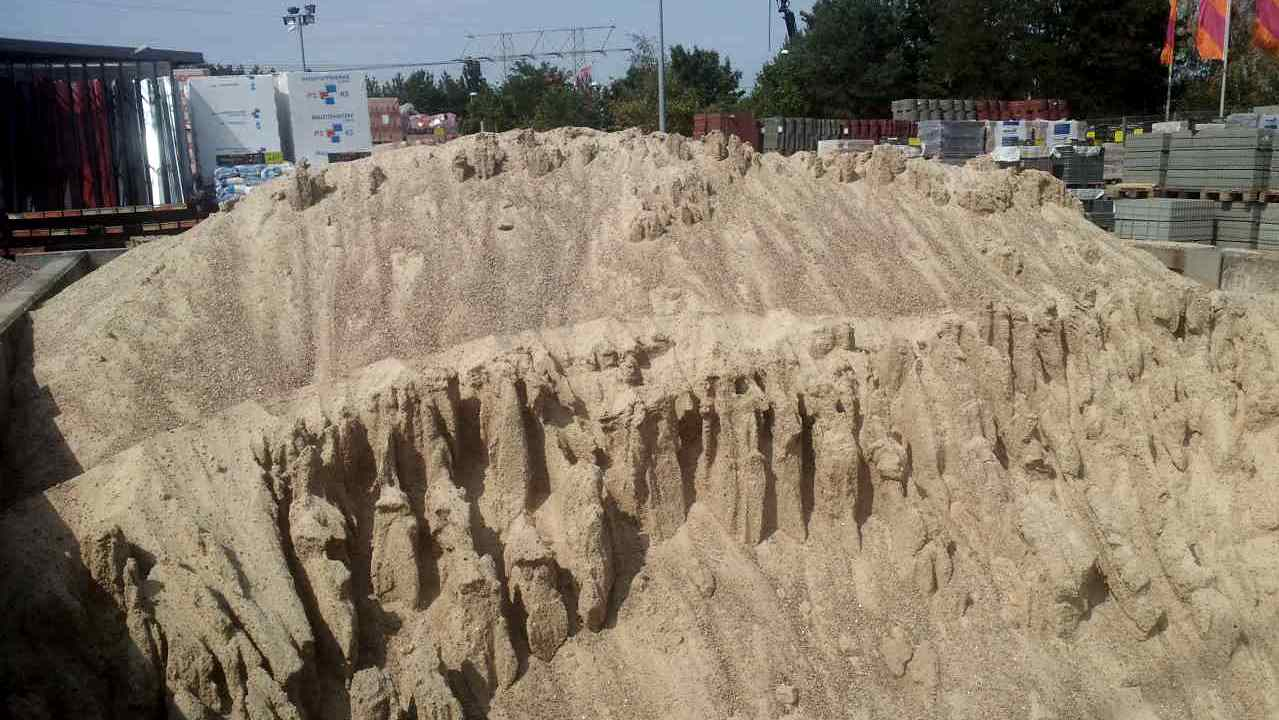 Just a small pile of sand