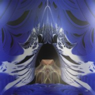"The Mage Emerges. Digital Art Printed on Metal, single edition 24x24"" Lianne Todd. SOLD"