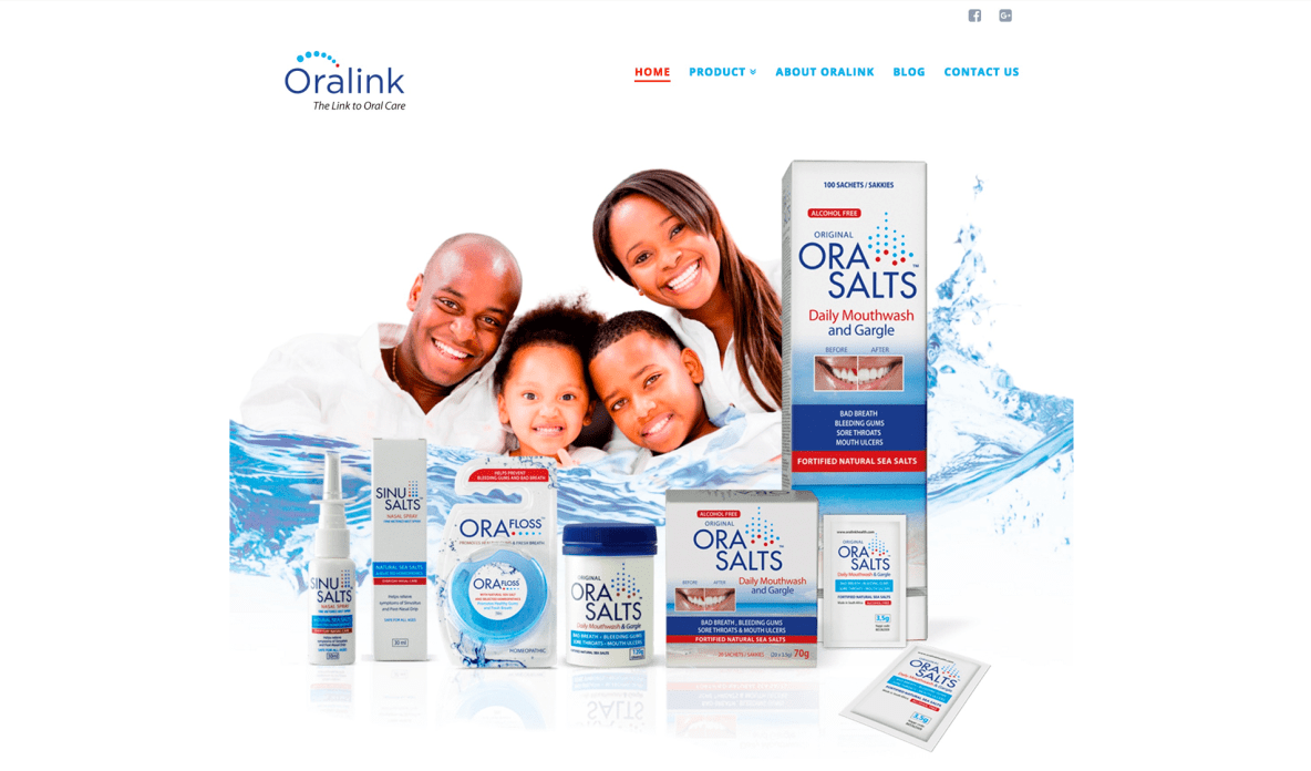 oral health care websites and oral health online marketing - Oralink Health by Fractal Marketing