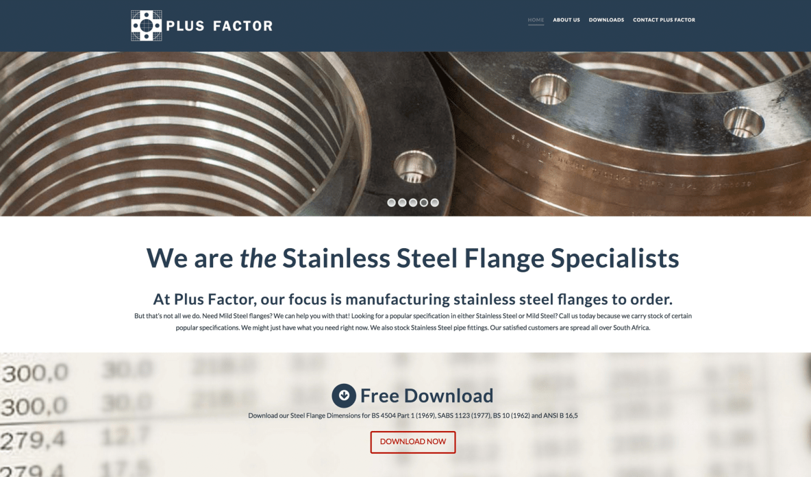 stainless steel flange marketing for Plus Factor