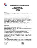 REGLAMENTO TECNICO ALMA CLASE 2 2019